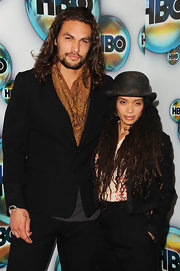 Lisa Bonet sported a menswear-inspired look during HBO's Golden Globes after-party with this black cropped jacket and slacks combo.