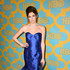 Emily Mest Lookbook: Emily Mest wearing Madeline Gardner Mermaid Gown (4 of 4). Emily Mest was a glamorous head turner at the HBO Golden Globes party in an electric-blue mermaid gown by Madeline Gardner.