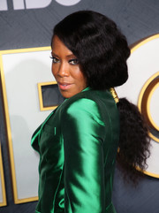 Regina King styled her hair into a loose ponytail for the HBO post-Emmy reception.