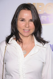 Patty Smyth kept it effortless with a shoulder-length layered cut at the 'McEnroe/Borg: Fire & Ice' screening.