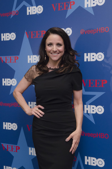More Pics of Julia Louis-Dreyfus Medium Wavy Cut (1 of 11) - Medium Wavy Cut Lookbook - StyleBistro