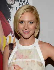 Brittany Snow kept it classic with this sleek bob at the Elizabeth and James collection party.