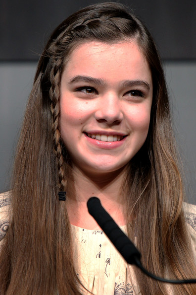 Hailee Steinfeld Long Partially Braided [hair,face,eyebrow,hairstyle,long hair,forehead,lip,layered hair,beauty,nose,hailee steinfeld,true grit press conference,film,the peninsula tokyo,japan,press conference]