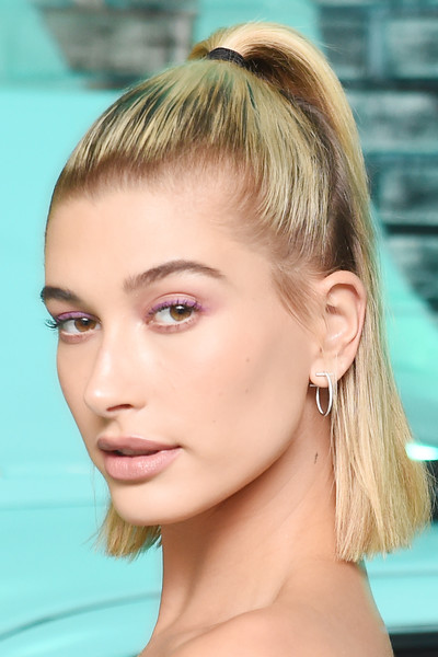 Hailey Baldwin Half Up Half Down