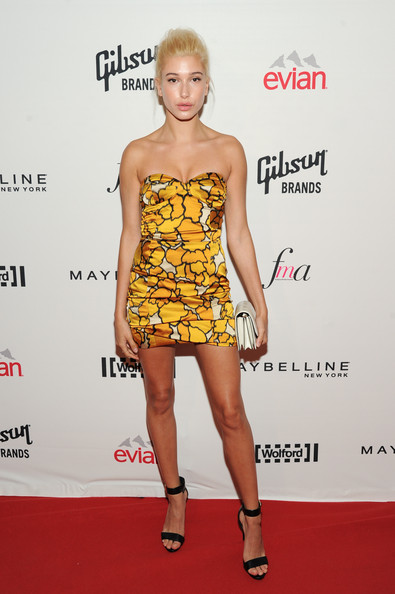 Hailey Bieber Strapless Dress [clothing,fashion model,cocktail dress,dress,shoulder,fashion,hairstyle,yellow,carpet,red carpet,arrivals,cocktail dress,hailey baldwain,socialite,daily front row second annual fashion media awards,the daily front row second annual fashion media awards,fashion,red carpet,fashion model,new york,kendall jenner,red carpet,celebrity,model,fashion,supermodel,daily front row,photograph,socialite,fashion show]