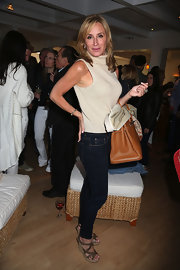 Sonja chose a pair of dark-wash skinny jeans for her look at the Summer Kick Off party in the Hamptons.