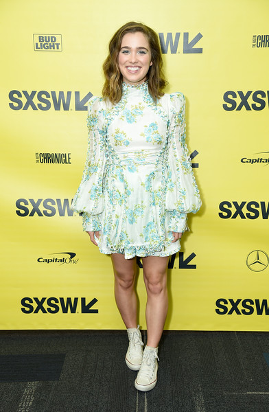 Haley Lu Richardson Canvas Sneakers [support the girls premiere,clothing,fashion model,footwear,yellow,dress,fashion,premiere,cocktail dress,fashion design,shoulder,haley lu richardson,zach theatre,austin,texas,festivals,sxsw conference,premiere]
