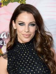 Jessica Lowndes looked lovely with her cascading curls at the Hallmark Channel Winter TCA Press Tour.