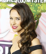 Lacey Chabert worked a glamorous side sweep at the Hallmark Channel Winter TCA Press Tour.