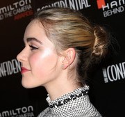Kiernan Shipka pulled her hair back into a twisted bun for the Hamilton Behind the Camera Awards.