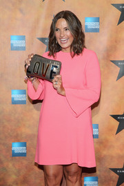 Mariska Hargitay showed off a cute Lanvin Love clutch at the 'Hamilton' Broadway opening party.