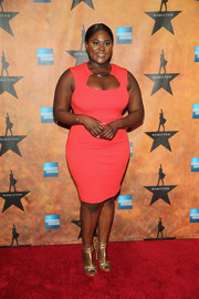 Gold strappy sandals finished off Danielle Brooks' look in elegant style.
