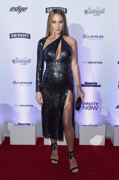 Hannah Jeter Strappy Sandals [sports illustrated swimsuit,flooring,fashion model,carpet,fashion,shoulder,red carpet,catwalk,long hair,cocktail dress,little black dress,hannah jeter,nyc,center415 event space,launch event,launch event]