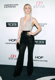 Julianne Hough looked sassy in a heavily embellished two-tone jumpsuit by Zuhair Murad at the Harper's Bazaar 150 Most Fashionable Women celebration.