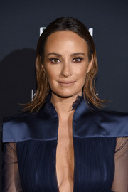 Catt Sadler rocked a wet-look 'do with flippy ends at the Harper's Bazaar Icons event.