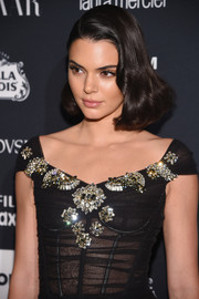 Kendall Jenner styled her hair into a vintage-style bob for the Harper's Bazaar Icons event.