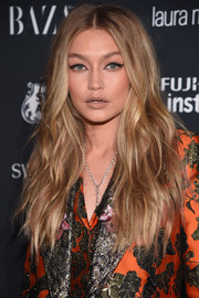 Gigi Hadid amped up the retro feel with a cat eye.