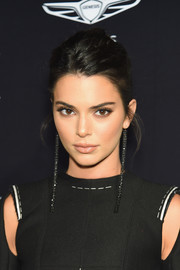 Kendall Jenner styled her hair into a messy-chic French twist for the 2018 Harper's Bazaar Icons event.