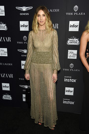 Whitney Port flashed some skin in a sheer nude gown by Valentino at the 2018 Harper's Bazaar Icons event.