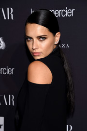 Adriana Lima sported a super-sleek ponytail at the Harper's Bazaar Icons event.