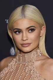 Kylie Jenner looked like a doll with her sleek blonde locks at the Harper's Bazaar Icons event.