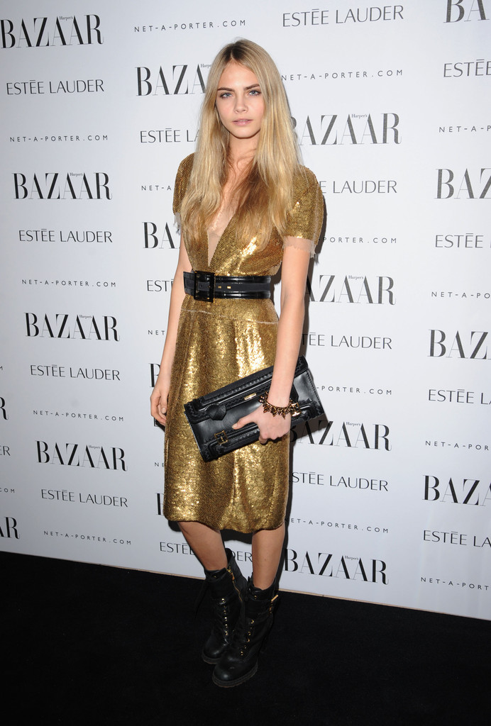 Cara Delevigne attends the Harper's Bazaar Women Of the Year Awards 2011 at Claridges Hotel on November 7, 2011 in London, England.