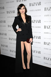 Daisy Lowe wore a statement coat dress at the Harper's Bazaar Women of the Year Awards.