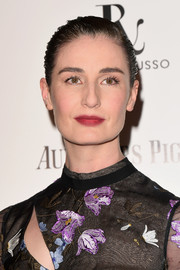 Erin O'Connor attended the Harper's Bazaar Women of the Year Awards wearing her hair in a wet-look updo.