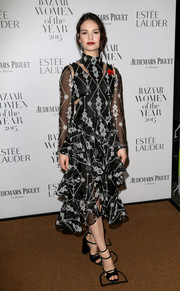 Lily James' Harper's Bazaar Women of the Year Awards look had a lot going on, from the intricate embroidery to the frothy tiered skirt to the bodice cutouts.