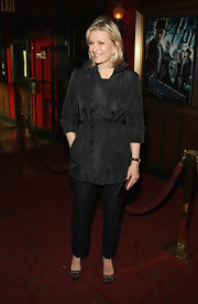 Diane Sawyer's black cutout pumps were a fun finish to her businesslike ensemble at the 'Harry Potter and the Half-Blood Prince' premiere.