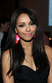 Kat Graham wore sparkling silver shadow to the Have a Heart for Children event.