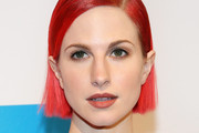 Hayley Williams Side Parted Straight Cut