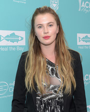 Ireland Baldwin pulled off this disheveled half-up hairstyle at the Bring Back the Beach Gala.
