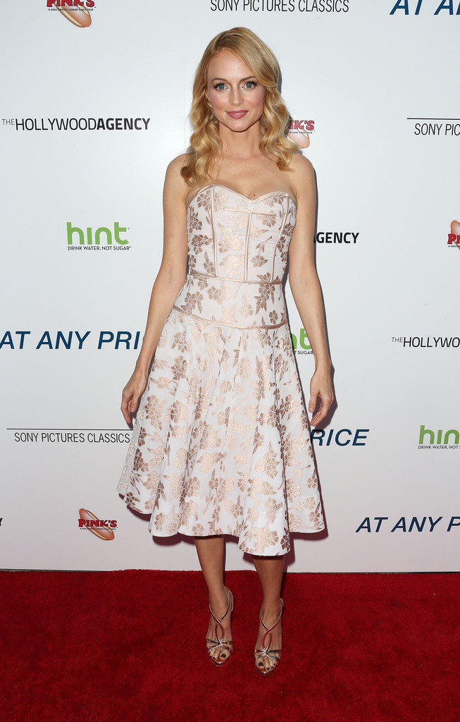 Heather Graham Strapless Dress Heather Graham Looks