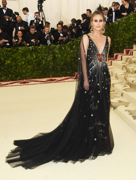 Keltie Knight was a goth princess in an embroidered black tulle gown by Paolo Sebastian at the 2018 Met Gala.