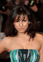 Roxanne Pallett sported a just-got-out-of-the-shower look with her mussed-up hairstyle.