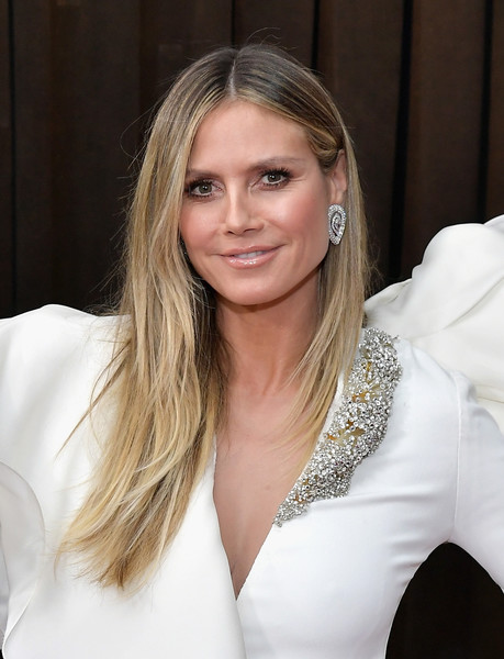 Heidi Klum Long Straight Cut [red carpet,hair,blond,face,hairstyle,eyebrow,beauty,lady,long hair,chin,lip,heidi klum,grammy awards,staples center,los angeles,california,annual grammy awards]