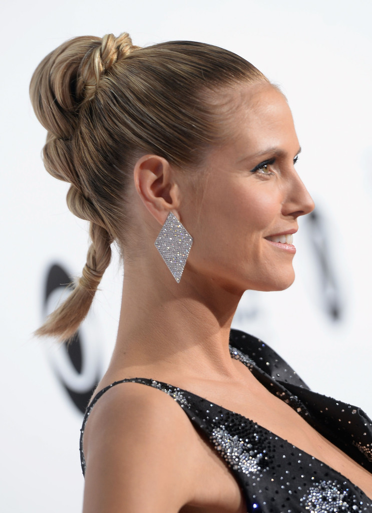 heidi klum braided updo updos lookbook stylebistro. Black Bedroom Furniture Sets. Home Design Ideas