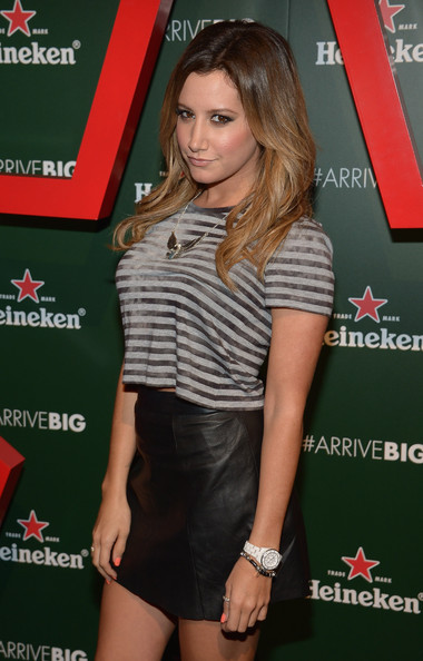 More Pics of Ashley Tisdale Mini Skirt (1 of 4) - Ashley Tisdale Lookbook - StyleBistro [clothing,muscle,premiere,long hair,magazine,waist,thigh,carpet,heineken star bottle - the arrival event,brooklyn navy yard,new york,ashley tisdale]