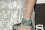 Helen Lindes Metallic Clutch