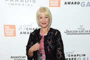 Helen Mirren Leather Clutch