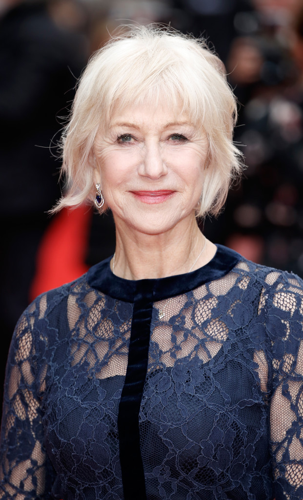 Helen Mirren Messy Cut Short Hairstyles Lookbook