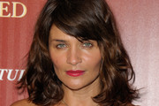 Helena Christensen Medium Wavy Cut with Bangs