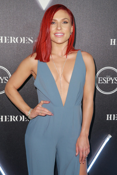 More Pics of Sharna Burgess Jumpsuit (3 of 7) - Suits Lookbook - StyleBistro [clothing,shoulder,beauty,hairstyle,dress,neck,arm,lip,suit,joint,arrivals,sharna burgess,heroes,city market social house,los angeles,california,espys]