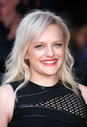 Elisabeth Moss attended the BFI London Film Fest screening of 'High-Rise' wearing a casual wavy 'do.