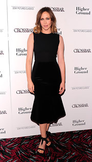Vera Farmiga looked like a bombshell in an LBD for the 'Higher Ground' New York premiere. The minimalist opted for only Gianvito Rossi sandals to complete her look.