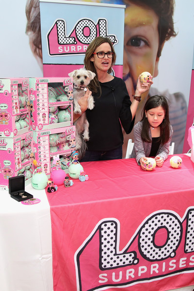 More Pics of Hilaria Baldwin Peep Toe Pumps (3 of 52) - Hilaria Baldwin Lookbook - StyleBistro [l.o.l.,pink,toy,barbie,party,doll,birthday,food,snack,dessert,baked goods,hilaria baldwin hosts launch,pets,amy jo,youtuber,hilaria baldwin,nyc,toys ``r us,unboxing video booth,launch]