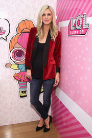 Nicky Hilton Rothschild pulled her outfit together with a pair of black suede pumps by Isabel Marant.