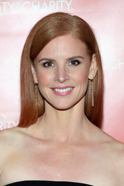 Sarah Rafferty showed off a super-sleek hairstyle while attending Hilarity for Charity.