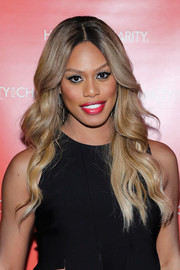 Laverne Cox was flawlessly coiffed with this long wavy 'do while attending Hilarity for Charity.